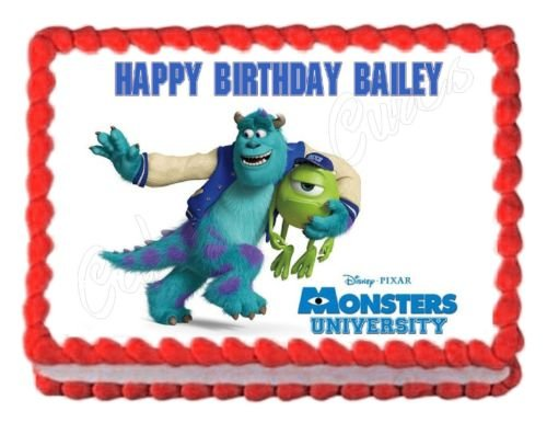 Monsters Inc. Monsters University edible image decoration party cake (Monster Cake Ideas)