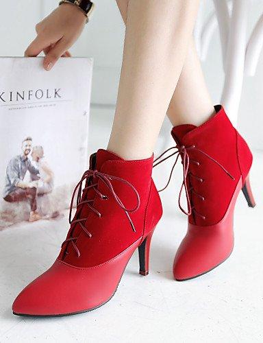 Beige Stiletto Vestido Uk3 Cn34 Botines Vellón Xzz De 5 Mujer Cn43 Eu42 Botas Puntiagudos Eu35 5 us10 Negro Rojo Black Semicuero Beige Casual Tacón Zapatos Uk8 us5 UHUIZq8