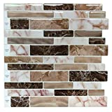 backsplash for kitchen Peel and Stick Tile Backsplash for Kitchen, Marble Design (10 Sheets)
