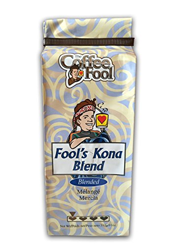 The Coffee Fool Fool's Kona Blend Whole Bean Coffee, 11 Ounce ()