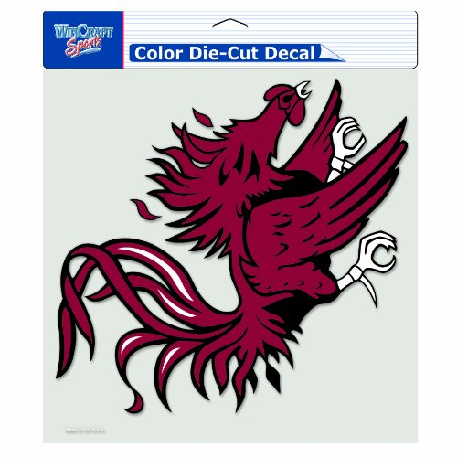 NCAA South Carolina Fighting Gamecocks 8-by-8 Inch Diecut Colored - Outlet In Carolina South