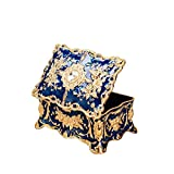 Best Trinket Boxes With Golds - Feyarl Vintage Rectangle Blue Trinket Box Jewelry Box Review