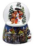 20062w Snow Globe Winter Snowman with kids 5.5 Snowmotion, Light & Music Box