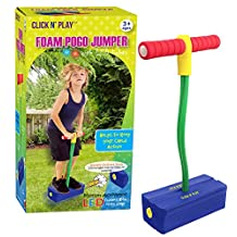 Click N' Play CNP0309 Foam Pogo Jumper - Makes Squeaky Sounds with Flashes LED Lights