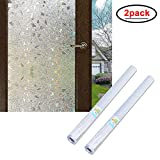Wopeite Window Films Self-Adhesive Frosted Privacy Static Cling 17.7 X 78.7 Inches,2 Pack