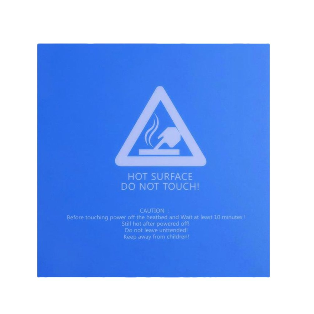 UKCOCO Reusable Hot Bed Sticker Frosted 3D Printer Film 220 x 220 x 0.5mm Blue