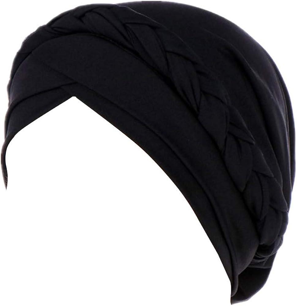 Women Rabbit Ear Bow Cap Chemo Cancer Hat Muslim Turban India Elastic Hats