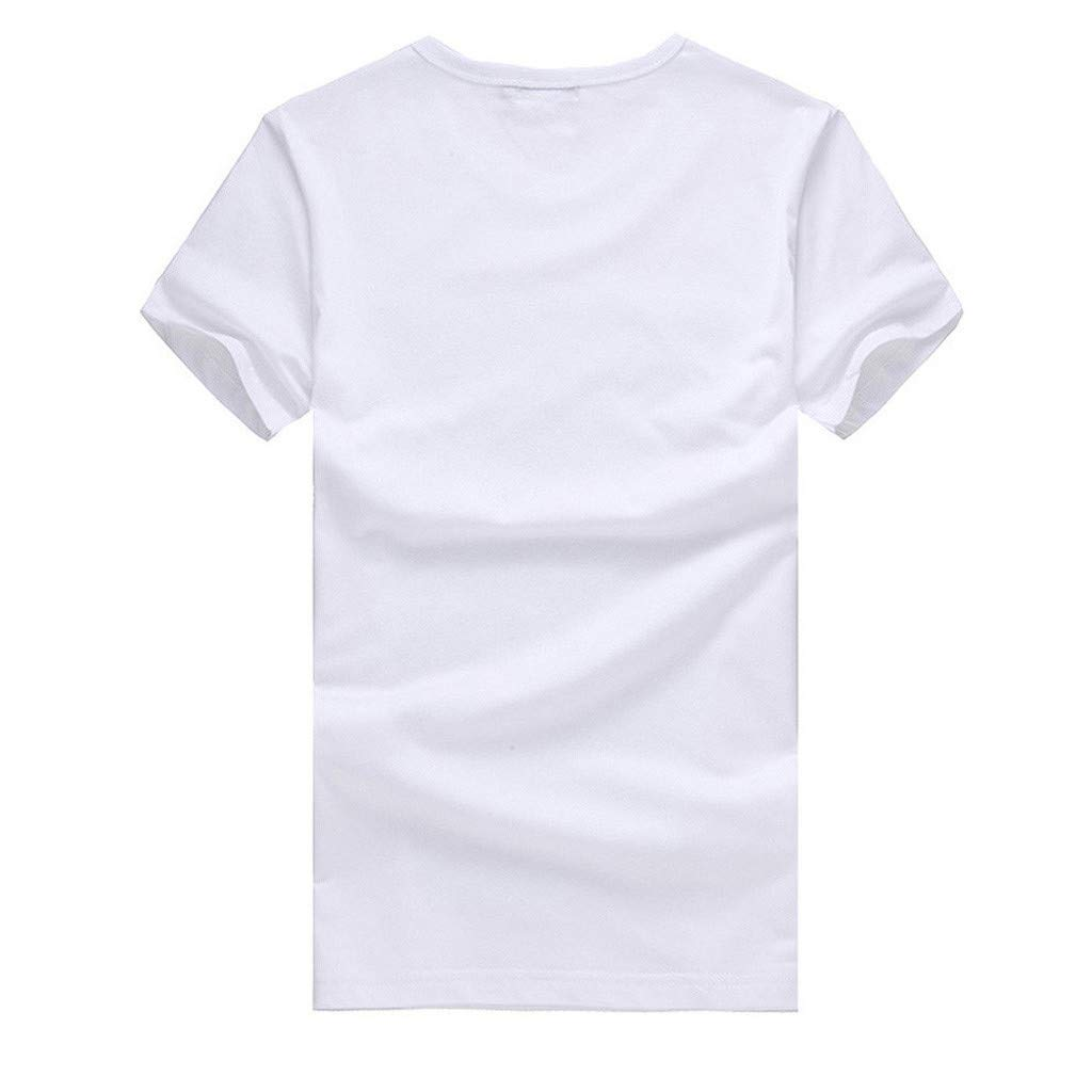 Hot!Ninasill Men Large Size Personality Printing Couple Models Fashion Loose Short Sleeve Tops Leisure t-Shirt Tank Tops White by Ninasill Man Tops (Image #3)
