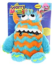 Worry Monster Plush Soft Toy blue & orange