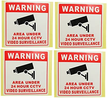 LOT WATER PROOF CCTV SURVEILLANCE SECURITY VIDEO CAMERAS WARNING SIGNS+STICKERS
