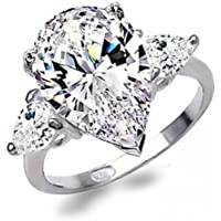 Morning light Luxurious 925 Silver White Sapphire Ring Wedding Engagement Jewelry New Sz 6-10 (7)