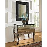 Powell Company Mirrored 2-Drawer Console For Sale