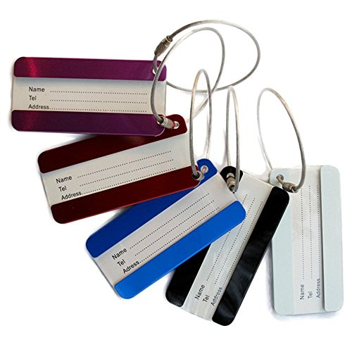 adecco-llc-5pcs-colorful-aluminum-luggage-tag-id-tag-name-card-holder-with-key-ring-holder-wire-for-