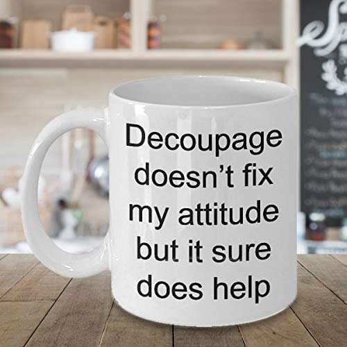 Decoupage Funny Mug for Crafter