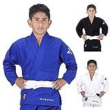 Elite Sports NEW ITEM Deluxe Kids IJF Judo Gi w/ Preshrunk Fabric & Free Belt