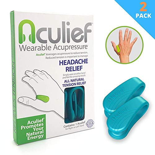 Sale!! Aculief - Award Winning Natural Headache, Migraine and Tension Relief - Wearable Acupressure ...