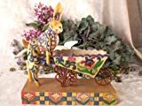 Jim Shore - Heartwood Creek - Bunny/Wheelbarrow by Enesco -
