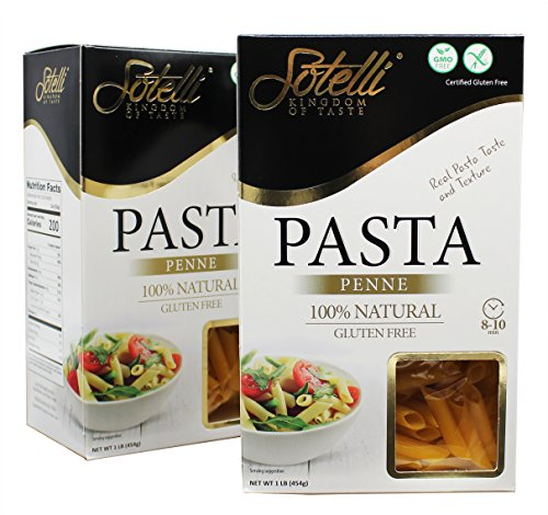 Gluten-Free Penne Corn Pasta, Kosher for Passover, GMO Free, Certified Gluten Free, 100% Natural, By Sotelli by Baron's