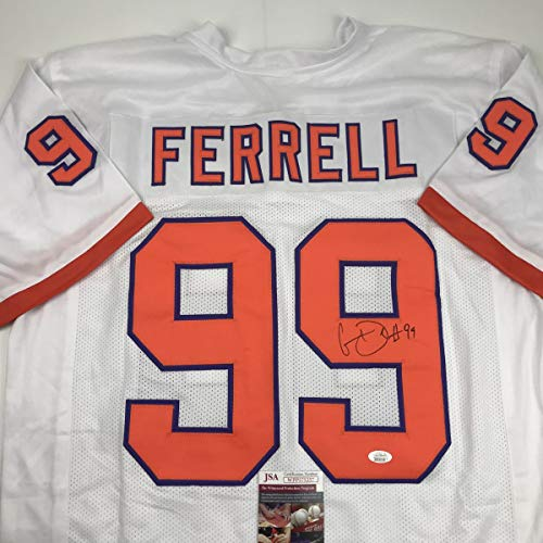 Autographed/Signed Clelin Ferrell Clemson White College Football Jersey JSA COA