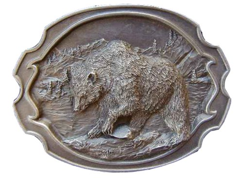 Grizzly Scene Novelty Belt - Buckle Scene