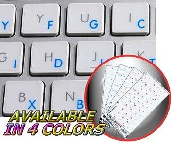 Apple Dvorak pegatinas para teclado con azul letras fondo transparente para portátiles, ordenadores de sobremesa y portátil: Amazon.es: Oficina y papelería