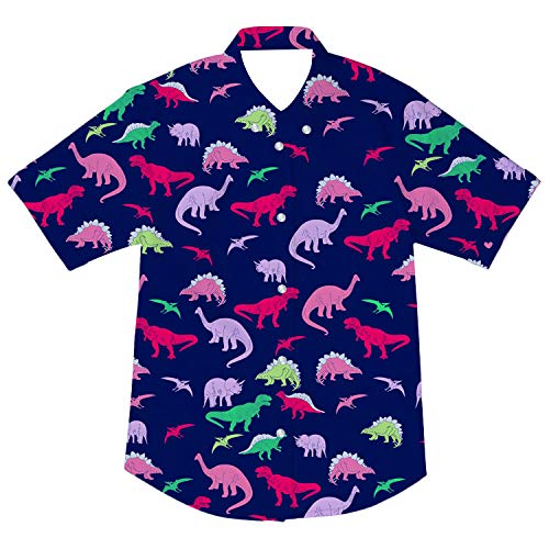 - Boys Button Down Shirt Toddler Infant Baby Clothes Cartoon Dinosaur Print Tees Tops Kids T-Shirt Dress Shirt 5-6T