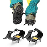 TATEELY 4 Teeth Ice Snow Crampons Anti-skid Boot Shoes Cover Spikes Cleats for Outdoor Hiking Walking Climbing Accessories 1 pair