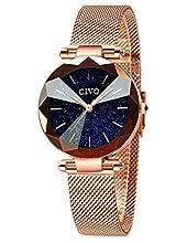 CIVO Relojes para Mujer Señoras Reloj Damas de Malla Impermeable Oro Rosa Elegante Banda de Acero Inoxidable Relojes de Pulsera Chicas Adolescentes Moda Vestir Negocio Casual Reloj de Cuarzo