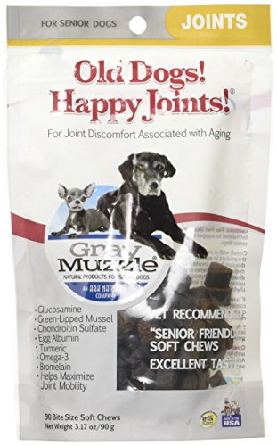 Ark Naturals Company Happy Joints Grey Muzzle for Old Dog 90 bite soft chews (Muzzle Happy)