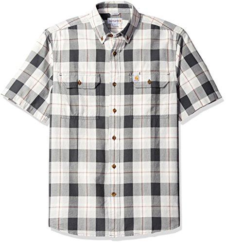 Carhartt Men's Fort Plaid Short Sleeve Shirt, Shadow, - Shadow Plaid Shirt