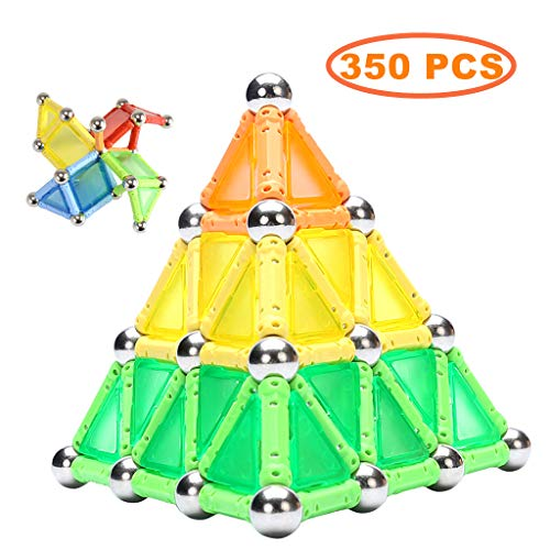 Kidsonor Magnetic Sticks Building Blocks Toys, Educational Magnet 3D Construction Puzzle Building Toy DIY STEM Toy Set…