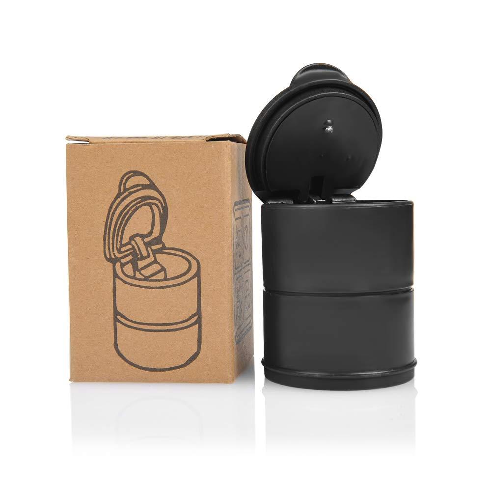 FOCCTS Cenicero Universal para Autom/óviles con Luz LED Cenicero Resistente al Viento Port/átil Ceniceros Plastico Anti-olor