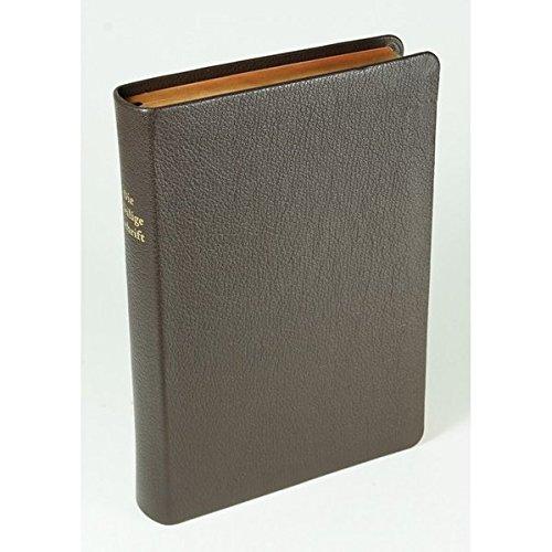 Die Bibel - größere Schreibrandausgabe: Elberfelder Überarbeitung 2003, Edition CSV-Hückeswagen, Ziegenleder braun, Rot/Goldschnitt, mit Karten