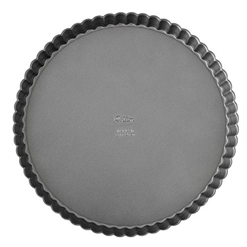 Wilton Excelle Elite Non-Stick Tart Pan and Quiche Pan with Removable Bottom, 11-Inch ()
