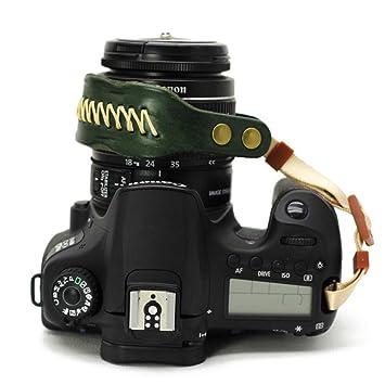Cozywind - Correa de Piel para cámara réflex Digital Canon Nikon ...