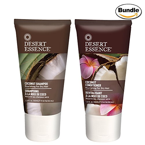 Desert Essence Coconut Shampoo and Conditioner Travel Size B