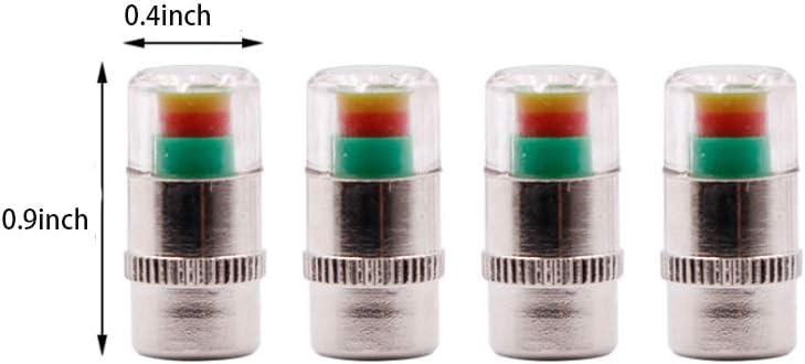 Grneric Benliu Tire Pressure Monitor Valve Stem Cap Tyre Sensor Indicator 4-Piece Set