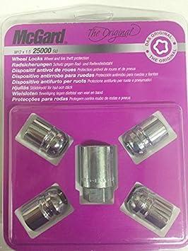 McGard 25000SU Standard - Tuercas antirrobo para ruedas (base esférica, M12 x 1,5, largo 29,9 mm, SW19): Amazon.es: Coche y moto