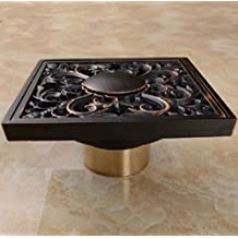 "Rozinsanitary NEW Oil Rubbed Bronze Square 4"" Bathroom Shower Floor Drain Washer Waste Drain"