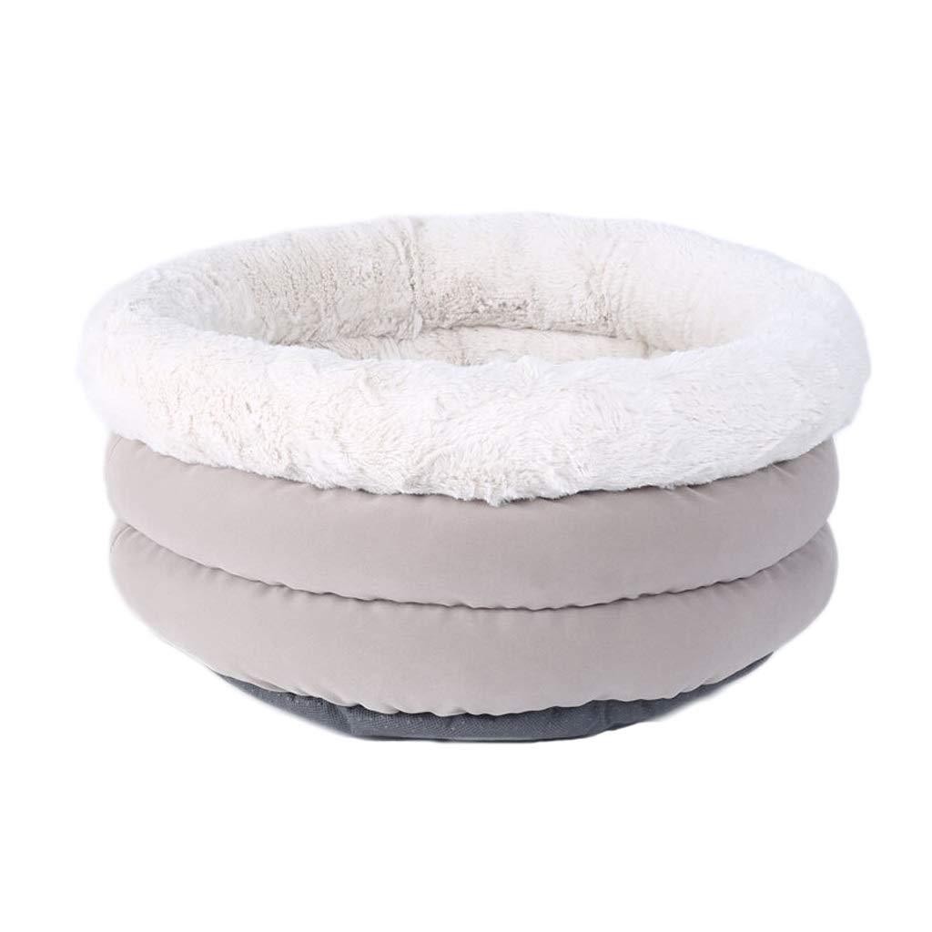 Light grey 4625cm Light grey 4625cm Kennel, Winter Warm Cat Litter Sleeping Bag Small Dog House Pet Nest Thickening Mat Sofa Bed House Round 46  25cm, Light Grey (color   Light Grey, Size   46  25cm)