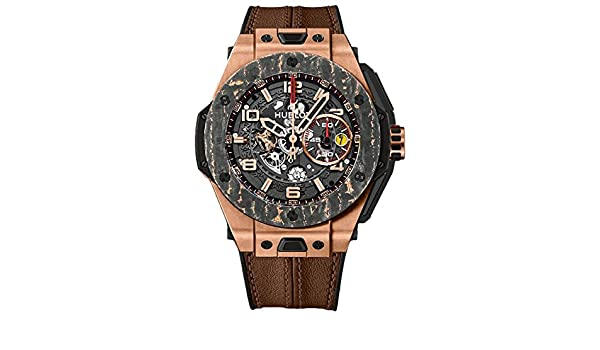 Amazon.com: Hublot Big Bang Ferrari King Gold Carbon Limited Edition Mens Watch 401.OJ.0123.VR: Watches