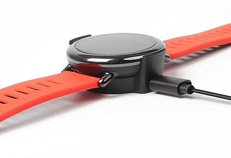 SIKAI USB Cable de Carga para Amazfit Pace Reloj PortableCargador Reemplazo USB Cradle para Amazfit Recambios Cable de Carga Clip Dock de Muelle ...