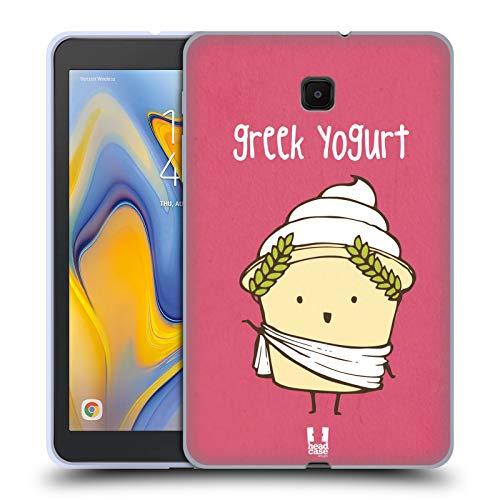 Head Case Designs Greek Yogurt Yummy Doodle Soft Gel Case Compatible for Galaxy Tab A 8.0 (2018)