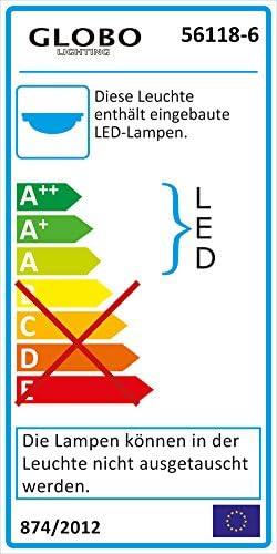 LED 24 W Decken Leuchte Dielen Spot Kristall Lampe Licht Schiene verstellbar Globo 56118-6