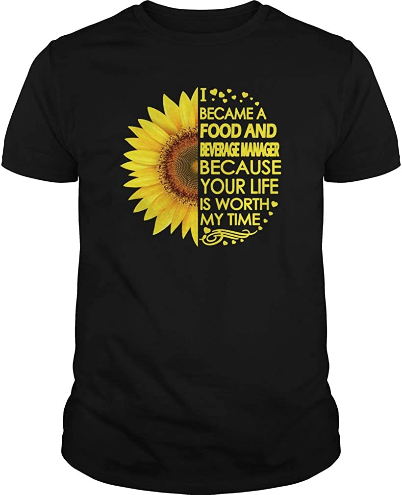 Food and Beverage Manager Sunflower T-Shirts - Unisex Tee