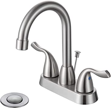 DESFAU Bathroom Faucet, 360 Degree Swivel High arc Spout 4 Inch