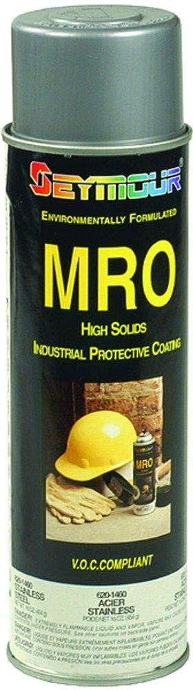 New Seymour Industrial Mro High Solids Spray Paint, Stainless Steel 620-1460