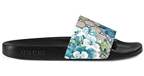 66148b9a7 Gucci GG St. Blooms Place Men s Runway Supreme Monogram Slide Sandal (10.5  US