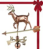 Good Directions White Tail Buck / Deer Weathervane, Pure Copper, Rooftop, Roof Décor, Wildlife