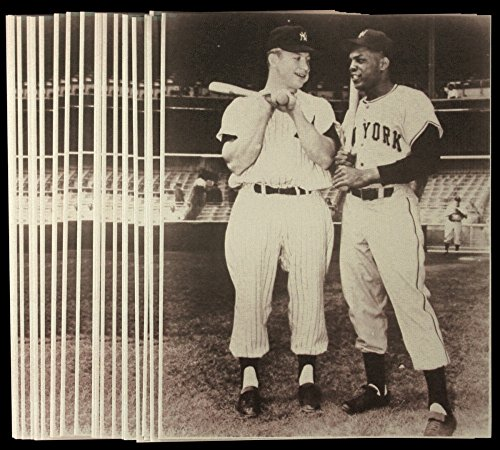 MICKEY MANTLE & WILLIE MAYS 11x14 SEPIA PRO PRINT PHOTOS NY YANKEES vs NY GIANTS - Willie Mays Autographed Photo